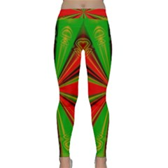 Abstract Art Fractal Modern Art Classic Yoga Leggings by Pakrebo
