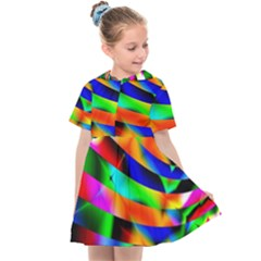 Abstract Art Artwork Digital Art Color Kids  Sailor Dress by Pakrebo