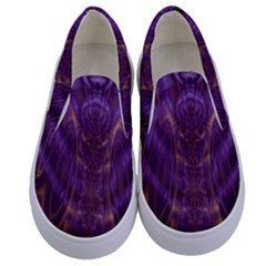 Abstract Art Artwork Fractal Design Kids  Canvas Slip Ons