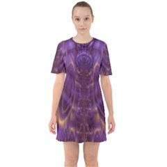Abstract Art Artwork Fractal Design Sixties Short Sleeve Mini Dress