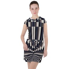 Abstract Art Art Design Modern Art Drawstring Hooded Dress
