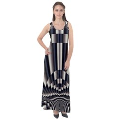 Abstract Art Art Design Modern Art Sleeveless Velour Maxi Dress