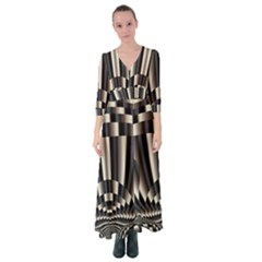 Abstract Art Art Design Modern Art Button Up Maxi Dress