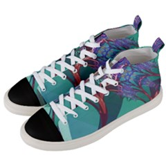 Art Fractal Artwork Creative Men s Mid-top Canvas Sneakers by Pakrebo
