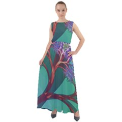 Art Fractal Artwork Creative Chiffon Mesh Maxi Dress