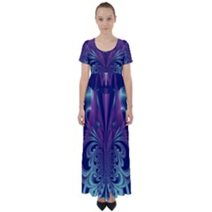 Design Art Digital Art Artwork High Waist Short Sleeve Maxi Dress by Pakrebo