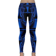 Art Fractal Artwork Creative Blue Black Lightweight Velour Classic Yoga Leggings