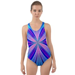 Abstract Art Design Digital Art Cut Out Back One Piece Swimsuit by Pakrebo
