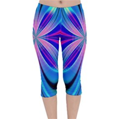 Abstract Art Design Digital Art Velvet Capri Leggings