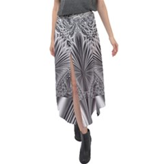 Crystal Design Pattern Velour Split Maxi Skirt by Pakrebo