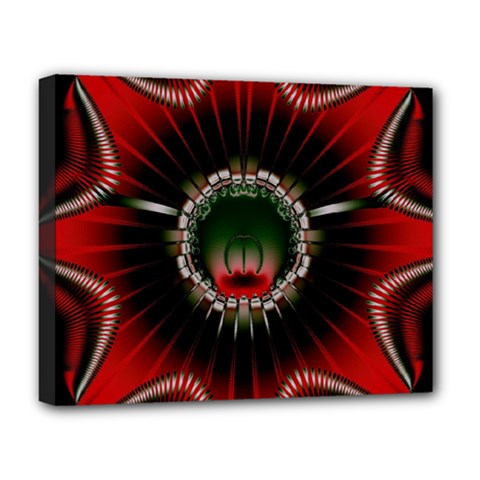 Abstract Abstract Art Artwork Star Deluxe Canvas 20  X 16  (stretched)