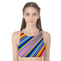Background Colors Colorful Design Tank Bikini Top