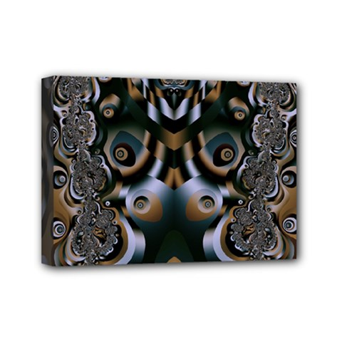 Fractal Art Artwork Design Mini Canvas 7  X 5  (stretched) by Pakrebo
