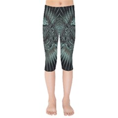 Abstract Art Fractal Artwork Kids  Capri Leggings