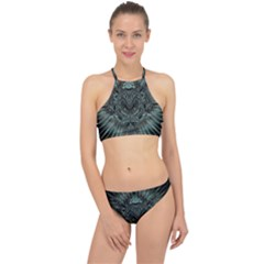 Abstract Art Fractal Artwork Racer Front Bikini Set