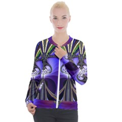 Abstract Art Artwork Fractal Design Pattern Casual Zip Up Jacket by Pakrebo