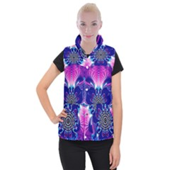 Artwork Art Fractal Flower Design Women s Button Up Vest