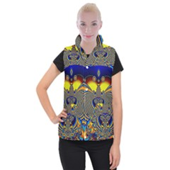 Abstract Art Artwork Digital Art Women s Button Up Vest