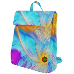 Artwork Digital Art Fractal Colors Flap Top Backpack