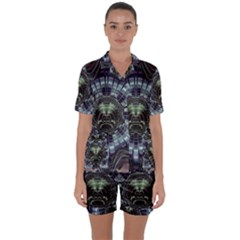 Fractal Abstract Art Artwork Satin Short Sleeve Pyjamas Set