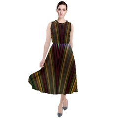 Design Silky Dynamic Elegance Round Neck Boho Dress