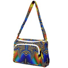 Abstract Art Design Digital Art Image Front Pocket Crossbody Bag