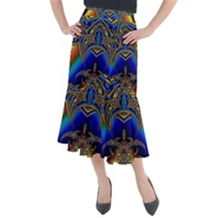Abstract Art Design Digital Art Image Midi Mermaid Skirt by Pakrebo