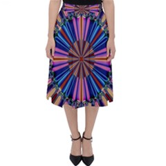 Artwork Fractal Geometrical Design Classic Midi Skirt by Pakrebo