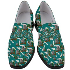 Koala Bears Pattern Women s Chunky Heel Loafers by bloomingvinedesign