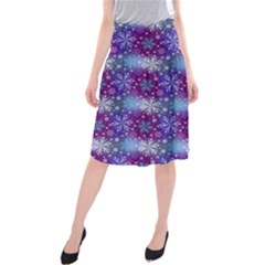 Snow Blue Purple Tulip Midi Beach Skirt by Jojostore