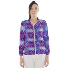Snow Blue Purple Tulip Women s Windbreaker