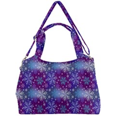 Snow Blue Purple Tulip Double Compartment Shoulder Bag
