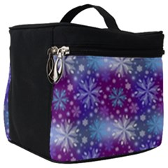 Snow Blue Purple Tulip Make Up Travel Bag (big) by Jojostore