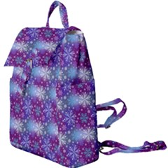 Snow Blue Purple Tulip Buckle Everyday Backpack by Jojostore