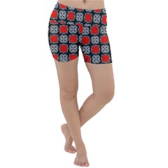 Pattern Square Lightweight Velour Yoga Shorts