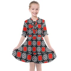Pattern Square Kids  All Frills Chiffon Dress