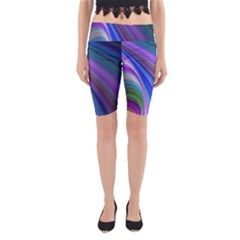 Background Abstract Curves Yoga Cropped Leggings