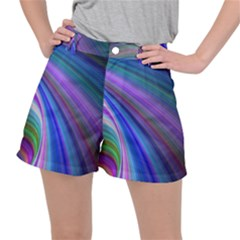 Background Abstract Curves Ripstop Shorts