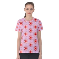 Texture Star Backgrounds Pink Women s Cotton Tee