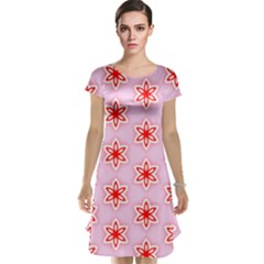 Texture Star Backgrounds Pink Cap Sleeve Nightdress
