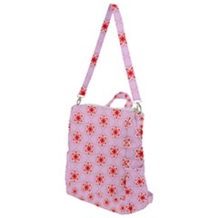 Texture Star Backgrounds Pink Crossbody Backpack