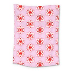 Texture Star Backgrounds Pink Medium Tapestry