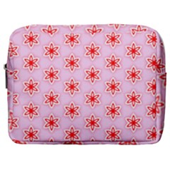 Texture Star Backgrounds Pink Make Up Pouch (large)