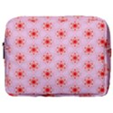 Texture Star Backgrounds Pink Make Up Pouch (Large) View1