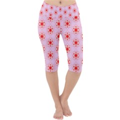 Texture Star Backgrounds Pink Lightweight Velour Cropped Yoga Leggings