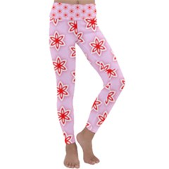 Texture Star Backgrounds Pink Kids  Lightweight Velour Classic Yoga Leggings