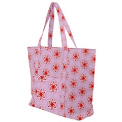 Texture Star Backgrounds Pink Zip Up Canvas Bag