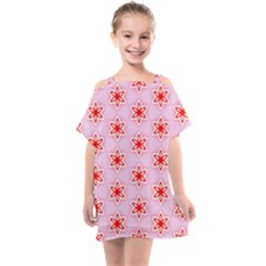 Texture Star Backgrounds Pink Kids  One Piece Chiffon Dress