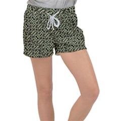 Modern Abstract Camouflage Patttern Women s Velour Lounge Shorts