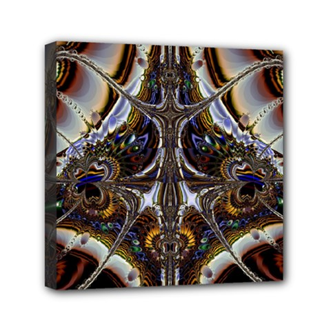 Abstract Art Artwork Fractal Design Mini Canvas 6  X 6  (stretched) by Pakrebo